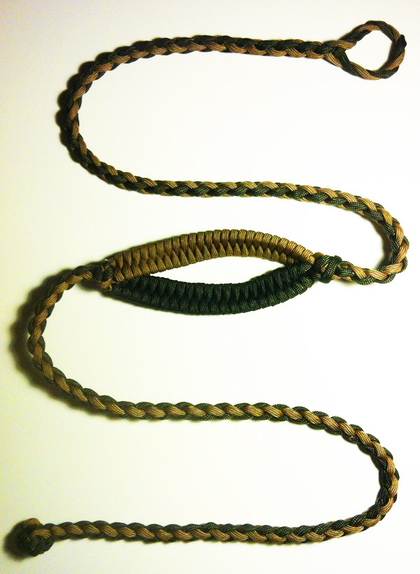 Forum hello from david the shepherd sling for Paracord rock sling